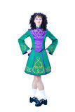 Irish dancer in the hard shoes royalty free stock photography