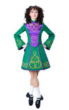 Irish dancer in the hard shoes Stock Photo