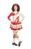 Irish dancer in hard shoes Royalty Free Stock Images