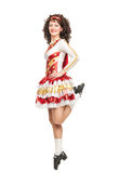 Irish dancer in hard shoes dancing Royalty Free Stock Images