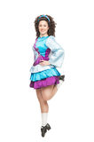 Irish dancer in hard shoes dancing Stock Photos