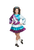 Irish dancer in hard shoes Stock Photos