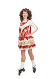 Irish dancer in hard shoes Stock Images
