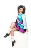 Irish dancer in hard shoes Stock Photo