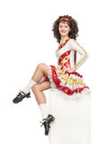 Irish dancer in hard shoes Stock Photography