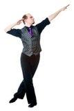 Irish dancer posing Stock Photo