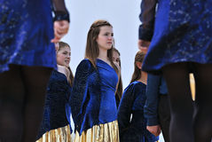 Irish Dancers Royalty Free Stock Image
