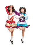Irish dancers in hard shoes dancing Royalty Free Stock Photos