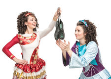 Irish dancers with soft shoes for dancing Royalty Free Stock Image