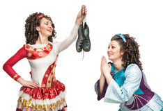 Irish dancers with soft shoes for dancing Stock Photography