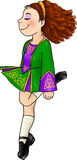 Irish dancing girl in traditional hard shoes Royalty Free Stock Photography