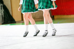 Irish dancing legs Stock Photo