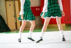 Irish dancing legs Stock Images