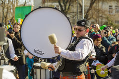 Irish drum band during St. Patrick's Day Parade Royalty Free Stock Photography