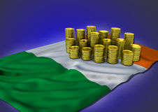 Irish economy concept with national flag and Stock Photography