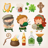 Irish elements Royalty Free Stock Photography