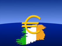 Irish euro sign Royalty Free Stock Images