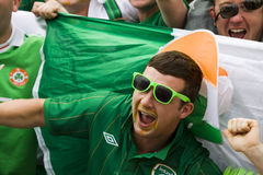 Irish fan in Poznan. Stock Images