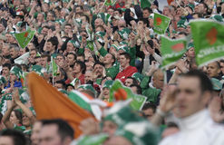 Irish Fans Royalty Free Stock Images