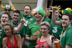 Irish fans in Poznan. Royalty Free Stock Photo