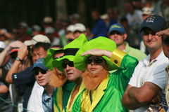 Irish fans at Ryder Cup Matches Royalty Free Stock Photo