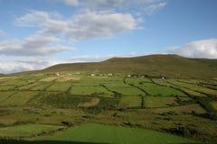 Irish farmland, kerry county. County kerry, dingle area, irish farm and hills Royalty Free Stock Image