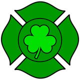 Irish Firefighter Maltese Cross. A vector illustration of a Irish Firefighter Maltese Cross Royalty Free Stock Photo