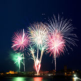 Irish Fireworks Display Royalty Free Stock Image