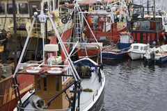Irish Fishing Boats Trawlers Stock Image