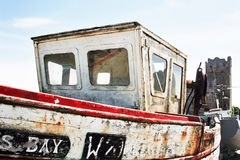 Irish fishing trawler. Docked in an old harbour at Kilmore Quay - Wexford Stock Photo
