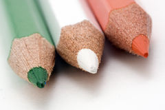 Irish Flag. Flag of Ireland with colored pencils stock photography