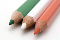 Irish Flag. Flag of Ireland with colored pencils royalty free stock photos