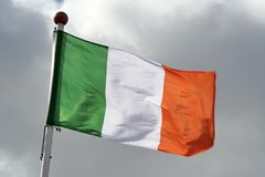 Irish flag. Republic of Ireland flag Stock Photography