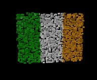 Irish flag on blocks Royalty Free Stock Photos