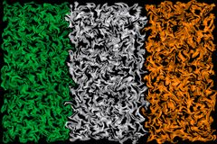 Flag of Ireland - Smeared Burning Colors Design stock illustration
