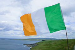 Irish flag. Cliffs of moher Royalty Free Stock Images