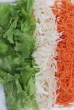 Irish flag close view. Made of vegetables stock images