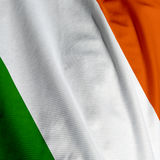 Irish Flag Closeup. Close up of the Irish flag, square image stock photography