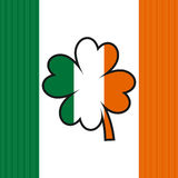 Irish flag and clover Stock Images