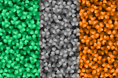 Irish Flag in Clovers Stock Photos