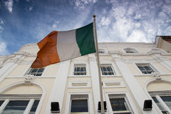 Irish flag. Flying, Dublin Ireland royalty free stock photo