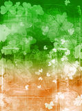 Irish flag grunge. Detailed Saint Patrick's Day background in flag colours Royalty Free Stock Photo