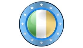 Irish Flag,illustration. Irish Flag as a button, most illustrations stock illustration