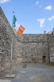 Irish Flag in Kilmainham Gaol in Dublin Stock Photos