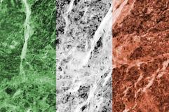 Irish Flag on Marble Texture Royalty Free Stock Photo