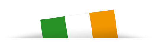 Irish flag partially hidden with shadow Royalty Free Stock Images