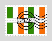 Ireland flag on postage stamps Stock Photography
