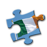 Irish flag puzzle Royalty Free Stock Photo