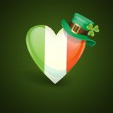 Irish Flag In The Shape Of A Heart. Royalty Free Stock Images