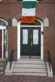 Irish Flag, St. Patrick's Day Parade, 2014, South Boston, Massachusetts, USA Royalty Free Stock Photos